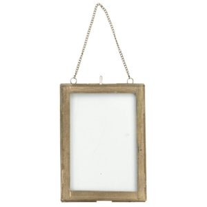 Azizi Wall Hung Frame - Antique Brass - Portrait - 8x10""