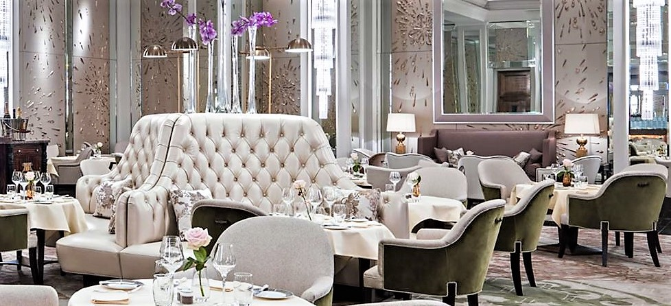 Interior Design Of The Afternoon Tea Venue, Palm Court At The Langham Hotel  In London