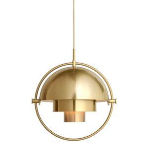 Gubi Multi-Lite Pendant Lamp Brass