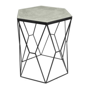 Accent Table - Iron/Concrete - Black/Grey