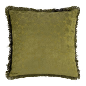 Mahal Chenille Fringes Cushion Cover - 50x50cm - Moss