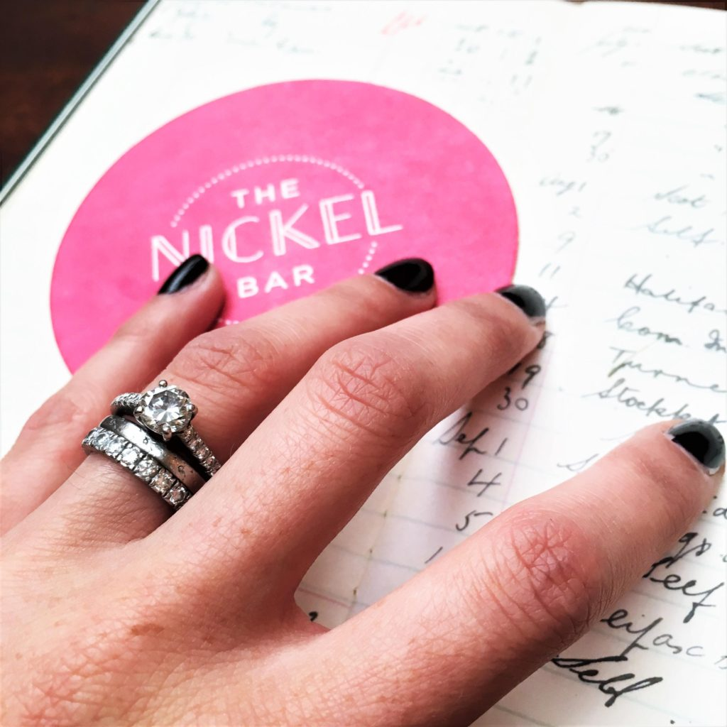 Dark nails and the bank-themed bill at The Ned Hotel, London. Interior inspiration at its best!