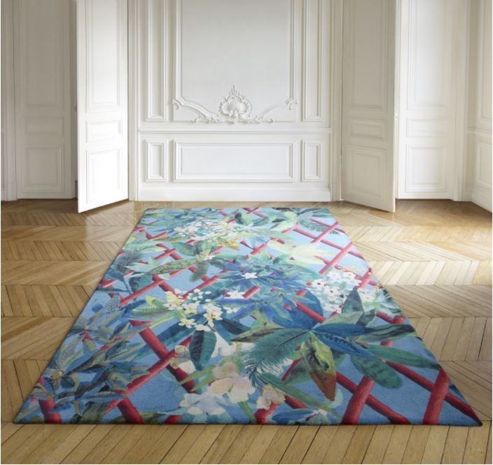 Designer's Guild and Christian Lacroix's collaboration is sheer genius. This rug has a tropical flavour whilst nodding to the summer, floral brights trend. Click on the blog for more like this.
