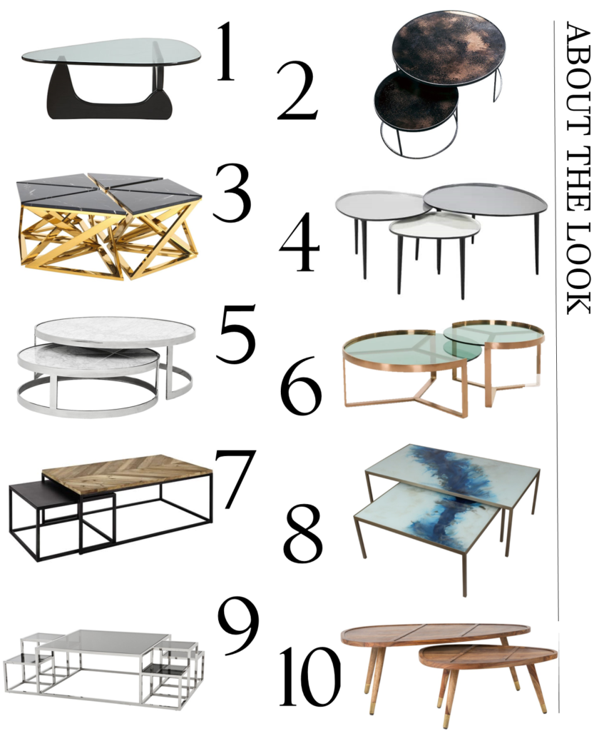 A carefully curated selection of unusually shaped or grouped contemporary coffee tables to help make your home look more gorgeous. From metallics to marble and wood finishes - the coffee table offers style and substance. Click to see my full edit of stylish options.