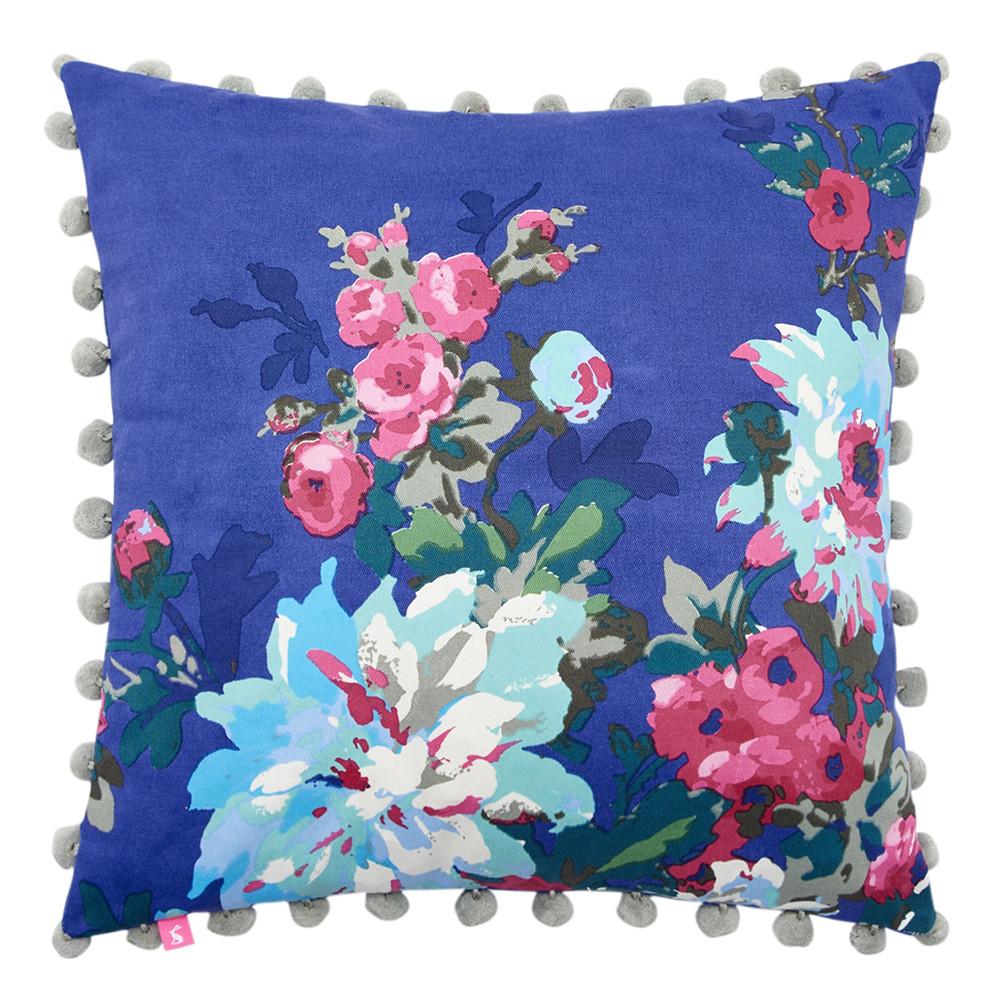 Joules Chevening Cushion with Trim Detailing. This floral delight has such vibrant impact. More bright summer florals and styling advice on the blog post.