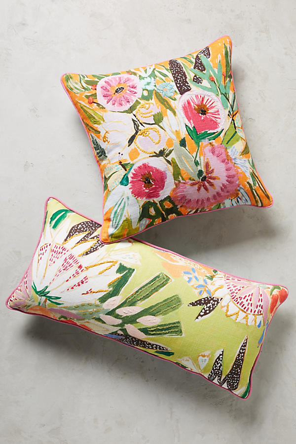Lulie Wallace - Jardiniere Cushion - A gorgeous way to tap into the bright, summer florals trend. Click on the blog for lots of fabulous ideas and a stylish edit.