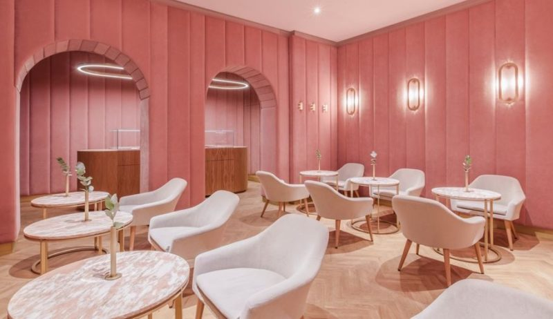 This Polish pastry shop is pure Millennial Pink perfection! For more on the hot trend that's not going anywhere, click on the link for lots of fabulous ideas and to shop the look.