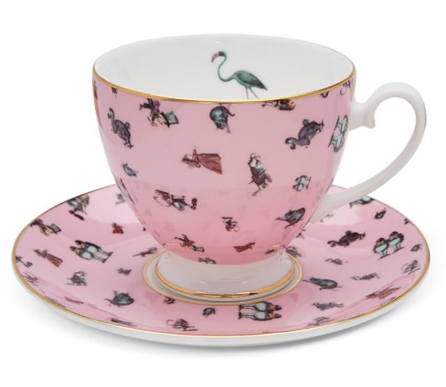 Mrs Moore - Alice Flamingo Chintz Teacup & Saucer in Pink is a gorgeous piece if you're looking to achieve a Millennial Pink aesthetic. For more on this hot interior design and fashion trend, click on the blog post...