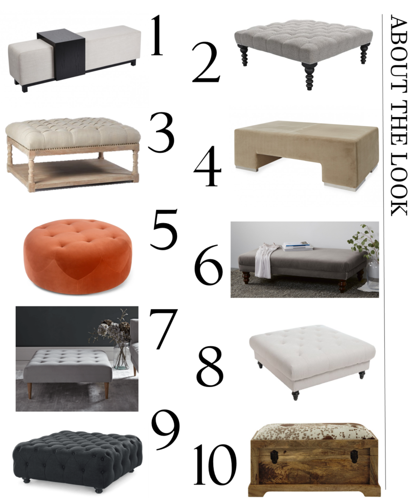 A carefully curated selection of ottomans and benches - the stylish alternative to coffee tables to help make your home look more gorgeous. Click to see my full edit of stylish options.