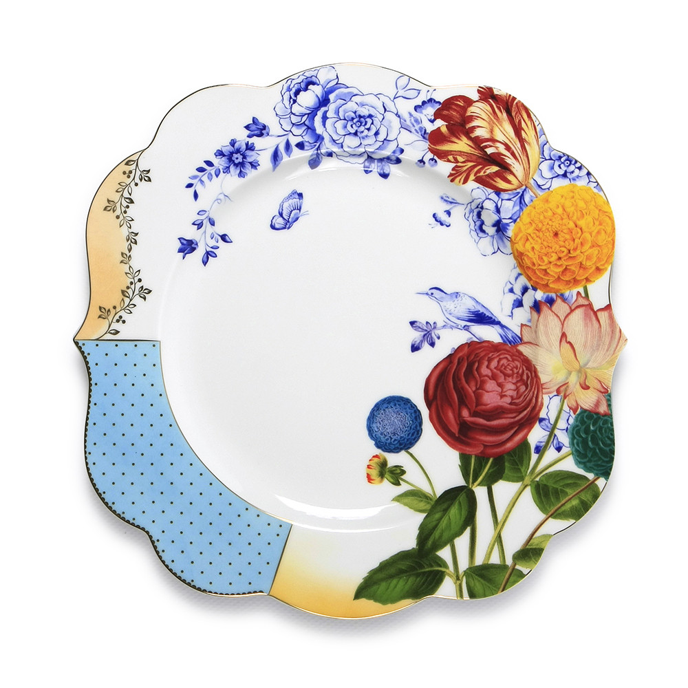 PiP Studio - Royal Pip Dinner Plate is a gorgeous addition to my collection of bright, summer florals. More on the blog post...
