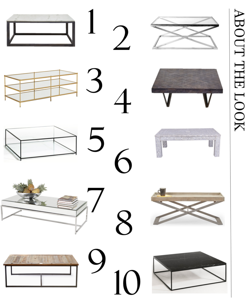A carefully curated selection of rectangular and square contemporary coffee tables to help make your home look more gorgeous. From metallics to marble and wood finishes - the coffee table offers style and substance. Click to see my full edit of stylish options.