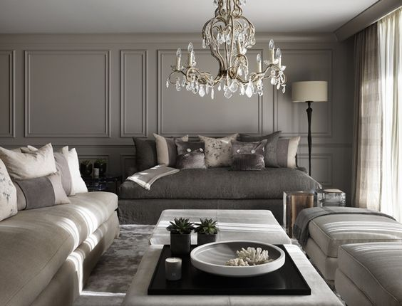 This gorgeous room, designed by Kelly Hoppen, really showcases how simple, well selected pieces can transform a space and highlight the feeling of height. Click on the blog post for more ideas and handy interior design secrets.