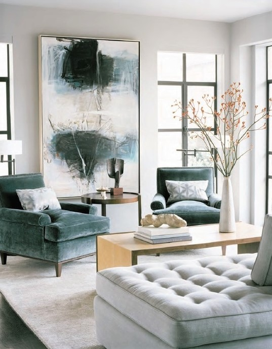 This gorgeous room really showcases how simple, well selected pieces can transform a space and highlight the feeling of height. Click on the blog post for more ideas and handy interior design secrets.