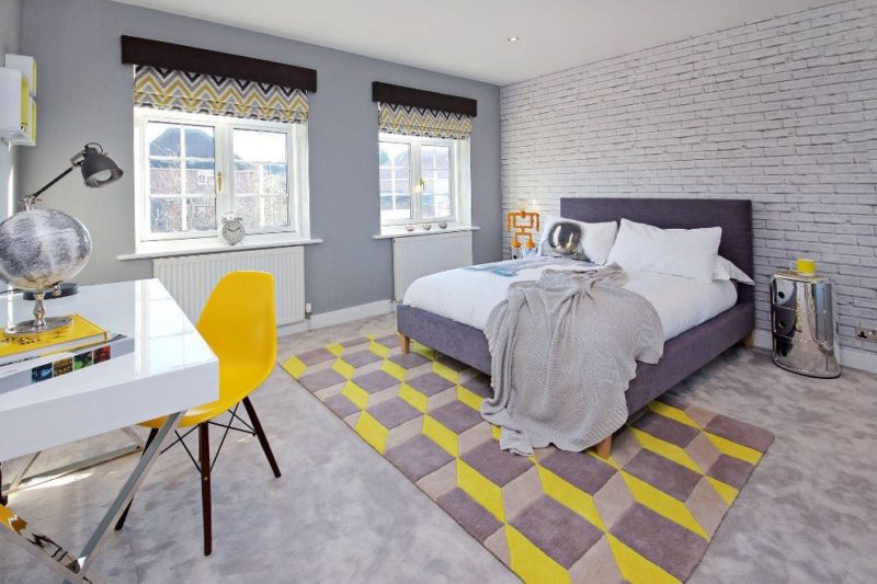 This scheme, designed by Sarah Mailer Design, a London-based interior designer, combines neutral greys with sunny yellow accents. A key interior design secret is to integrate colour with multiple accents, carefully planted around the space to balance the overall scheme. For more ideas and interior design secrets, click on the blog link...