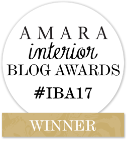 Winner of AMARA Interior Blog Awards 2017 Best Newcomer #IBA17