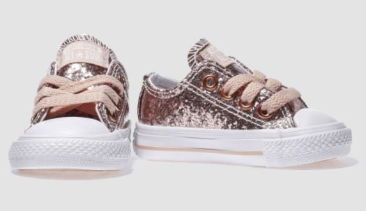 Festive Gift - Converse - Pink All Star Ox Glitter Girls Toddler Trainers
