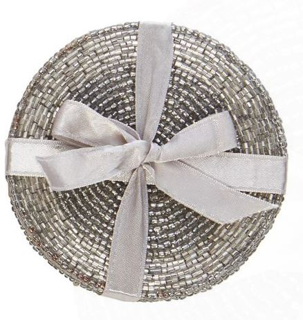 Festive GIft - Debenhams Home Collection - Silver Beaded Coasters