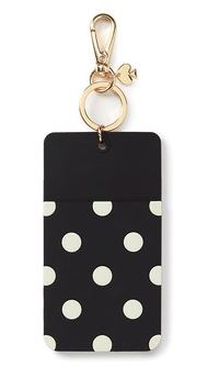 Festive Gift - Kate Spade - 'Why Hello There' Luggage Tag - Black Dot