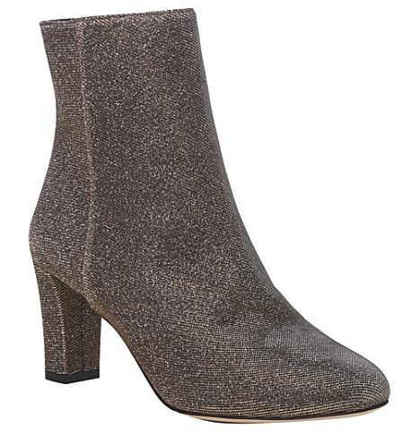 Festive Gift - LK Bennett - Leelah Metallic Ankle Boots