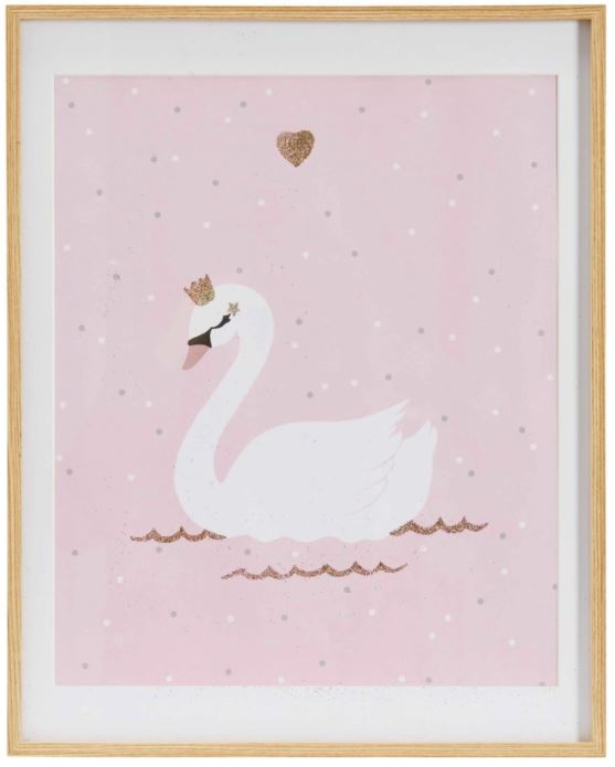 Festive Gift - Maisons Du Monde - Lilly Pink Swan Printed Artwork