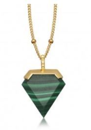 Festive Gift - Malachite Sheild Necklace