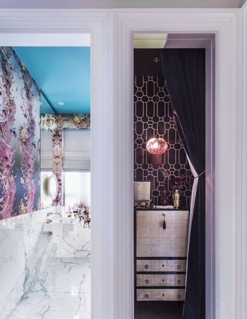 Holiday House London -The lovely Hazel Collins of Hazel Collins Design had a mix of spaces to contend with across house 59, Hamilton Terrace. In addition to the seemingly endless staircase - the spine of this impressive build - she also designed the beautiful hallway, landings and the ground floor cupboard bar.