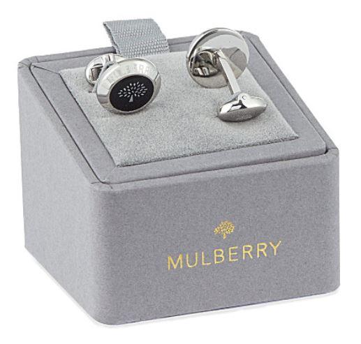 Festive Gift - Mulberry - Enamel Coin Cufflinks