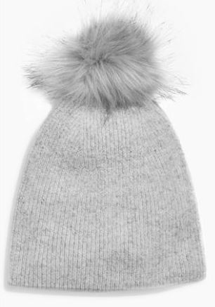 Festive Gift - Next - Cashmere Blend Pom Hat - Grey
