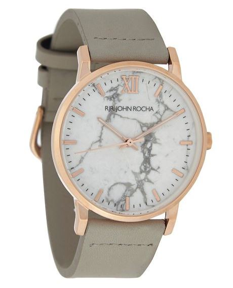RJR John Rocha - Ladies' Light Grey Marble Analogue Watch