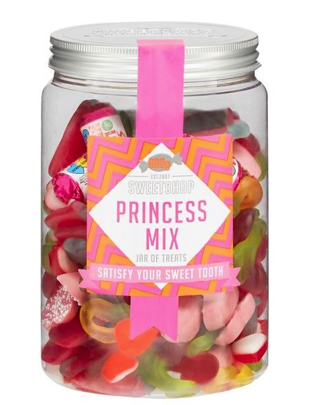 Festive Gift - Sweet Shop - Princess Mix Pick 'n' Mix Jar - 800g