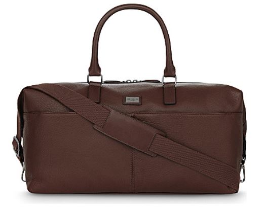Festive Gift - Ted Baker - Tiger Leather Holdall - Tan