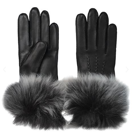 Festive Gift - UGG 3 Point Long Toscana Gloves - Black