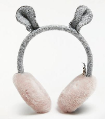 Festive Gift - UGG Children's Mouse Ear Muffs - Grey & Pink