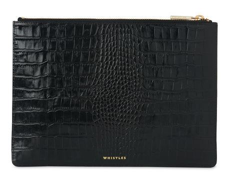 Festive Gift - Whistles - Shiny Croc Medium Clutch