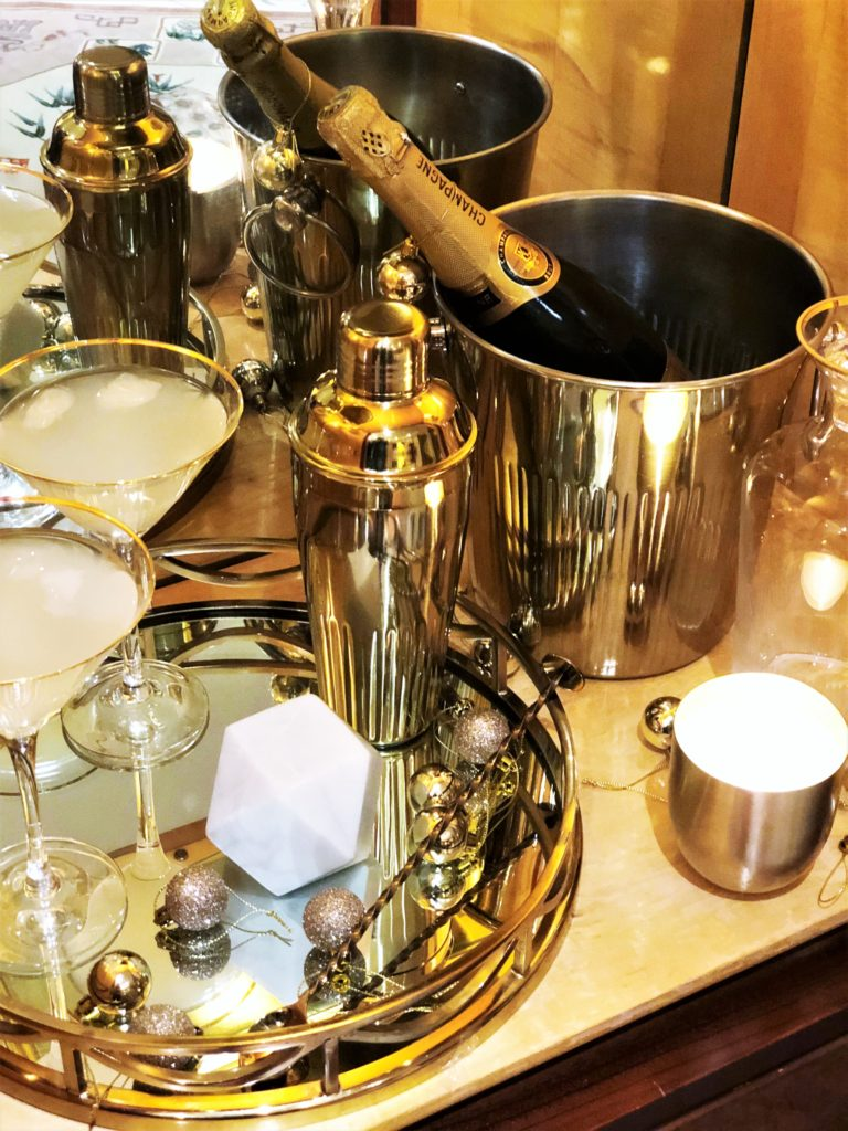 Festive Entertaining - Cocktails: The evening offers an entirely different approach to festive entertaining. No children means means more sparkle, louder music and significantly more alcohol.
