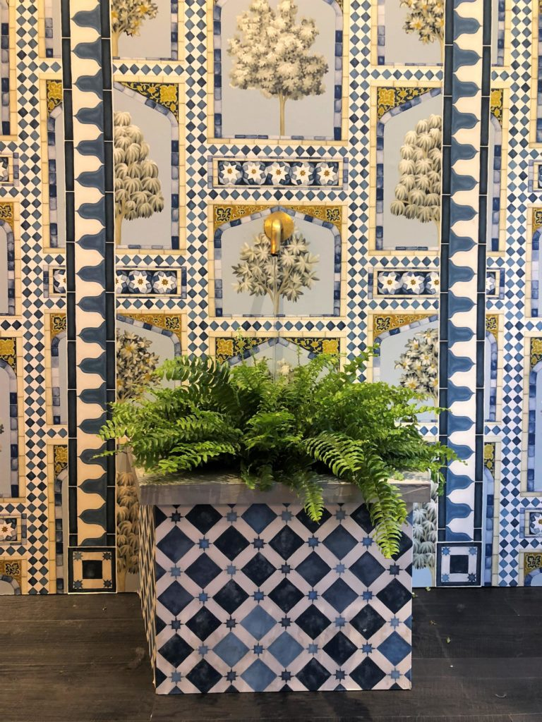 Cole & Son's showroom had been well and truly transformed into a Moroccan riad, courtesy of their brand new collaborative collection with flamboyant interior designer-to-the-stars, Martyn Bullard.