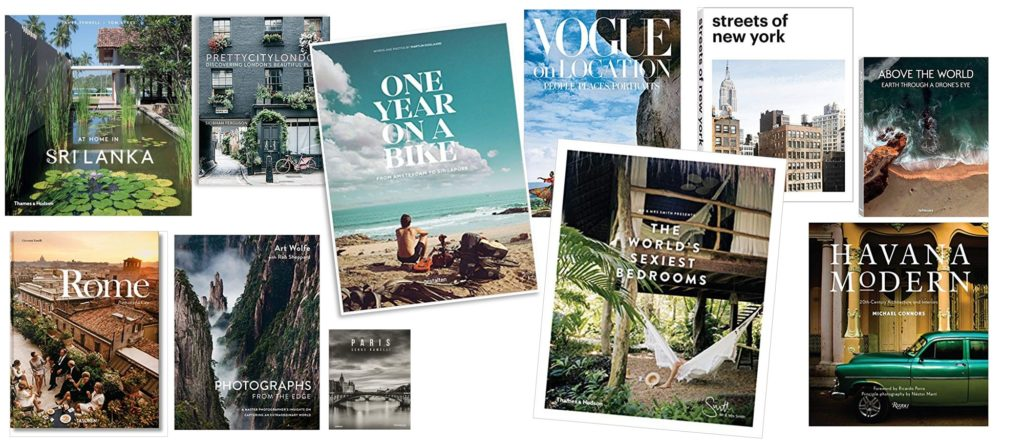 When it's raining outside, drift to sunnier climes with a coffee table book dedicated to travel. There are so many beautiful books to choose from, capturing the sites, sounds and smells of bustling cities, remote villages and hiker /biker/tuk-tuk trails.