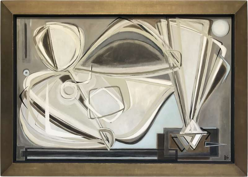 Wall art: Smith's recumbent nudes nod to both Moore and Picasso, in theme and stylistic approach respectively. With bespoke frames crafted to complement her work, Smith is happy to work to any palette.