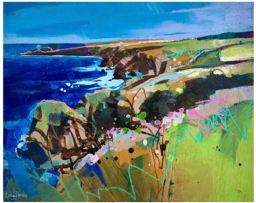 Wall art: Davies's art is that escape to the seaside that we all need! Her Cornish-based landscapes and seascapes are filled with a vibrant energy and zest for coastal living.